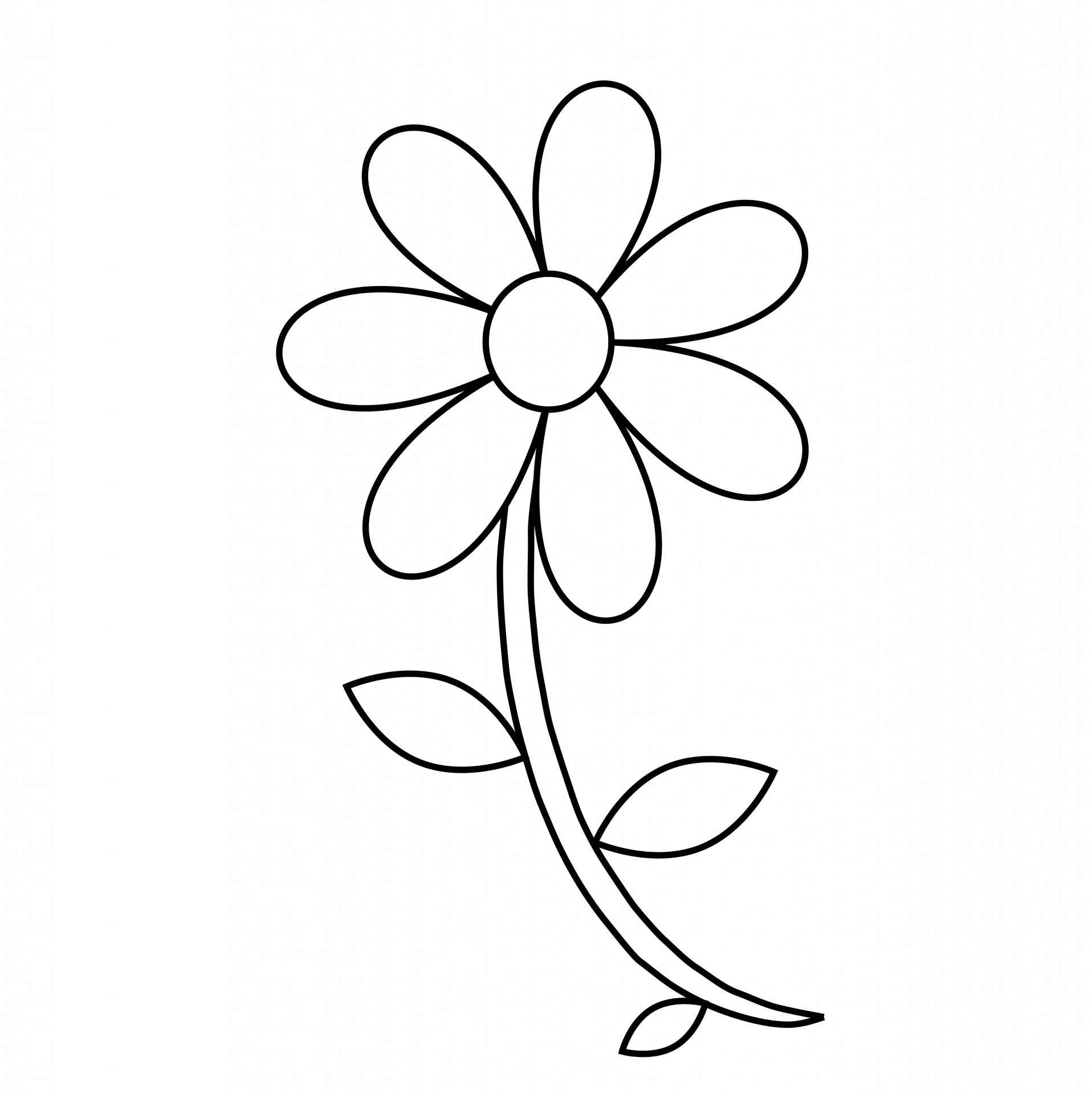 Flower Stems Coloring Pages