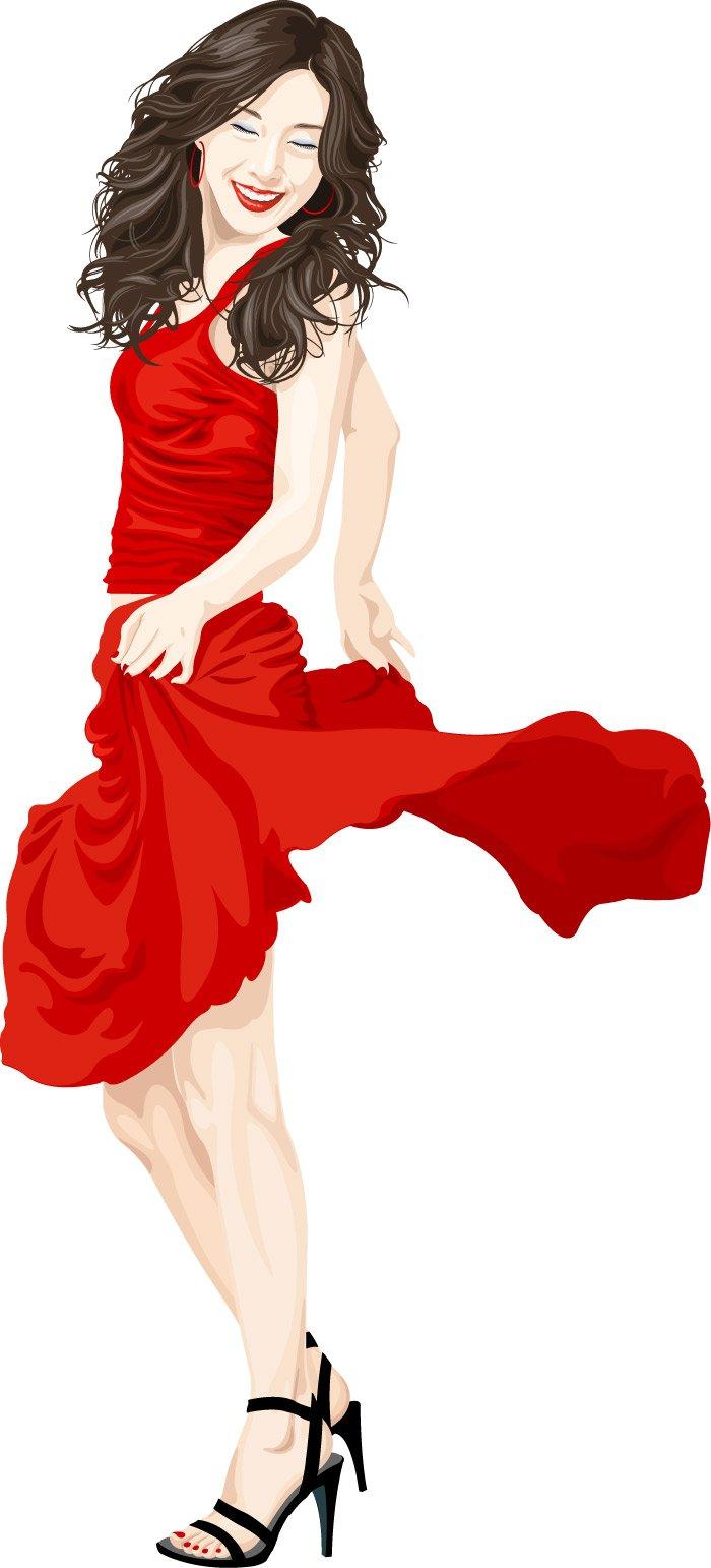 Fashion girl clip art 69