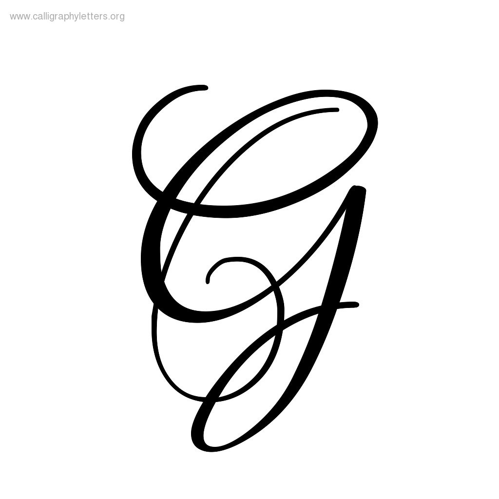 Fancy letter g lligraphy clipart best