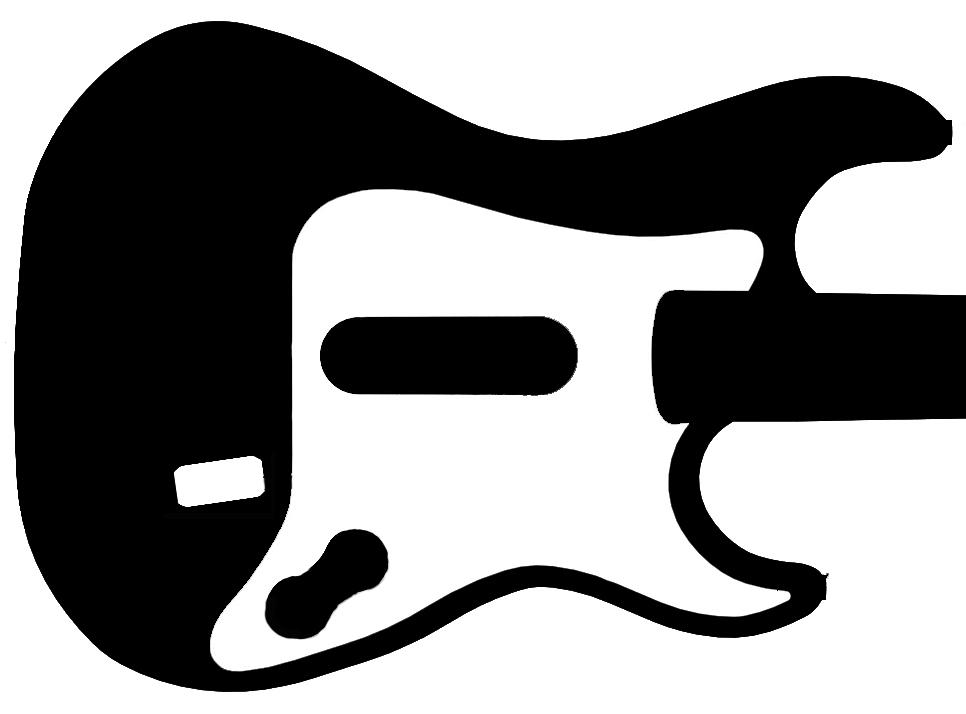 Electric Guitar Stencil 26 Guitar Stencil