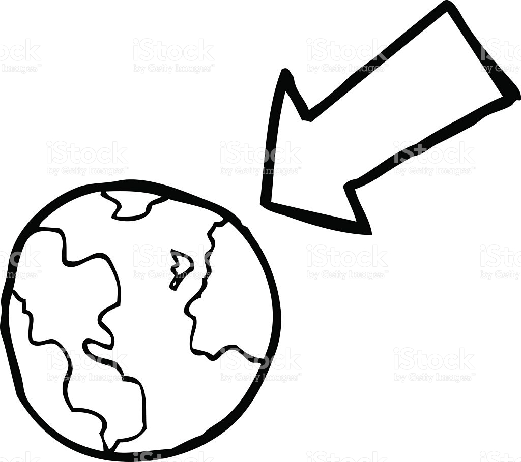 Line Drawing Earth : Earth line drawing clipart best