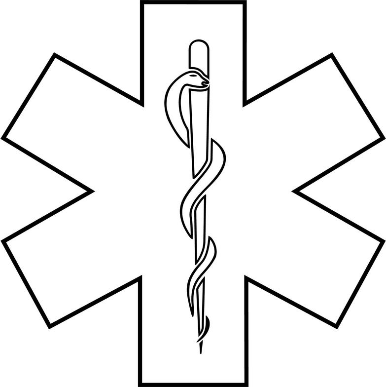 Star of life outline clipart