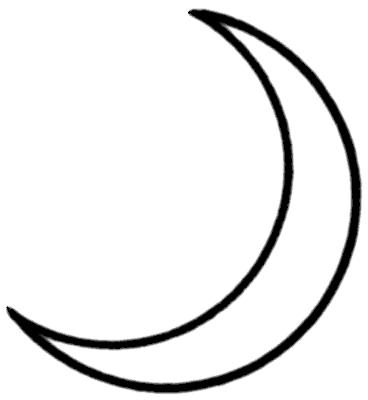 Crescent Moon Outline - ClipArt Best
