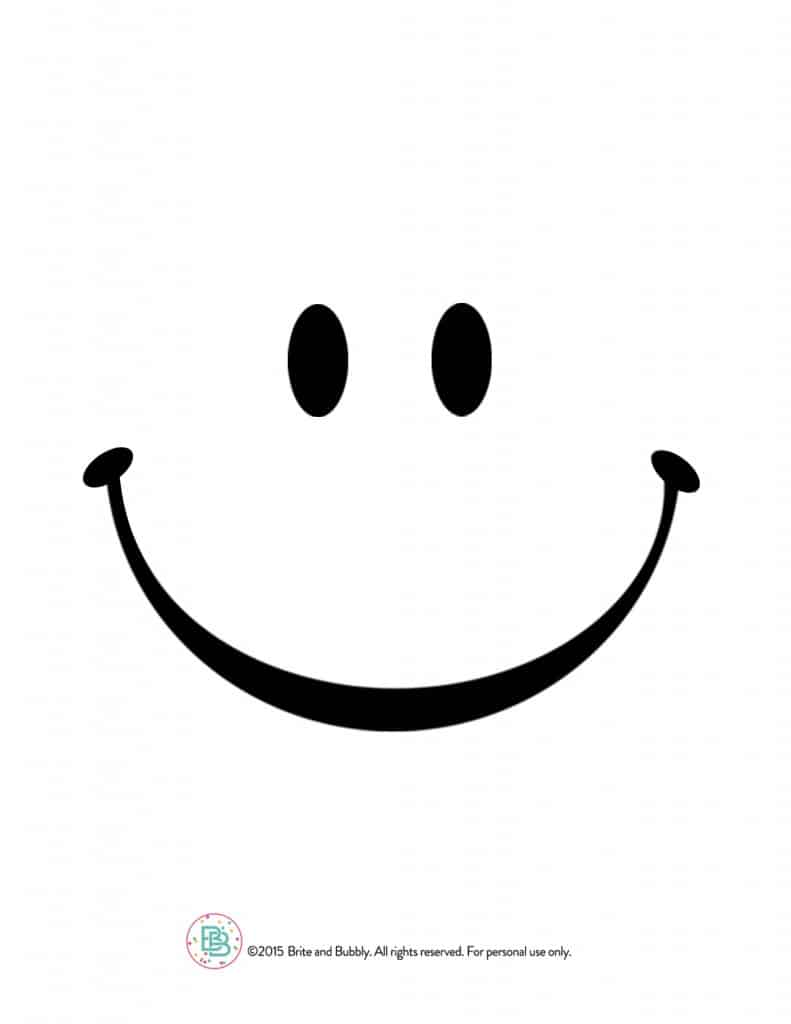 Smiley Face Printable Template Clipart Best
