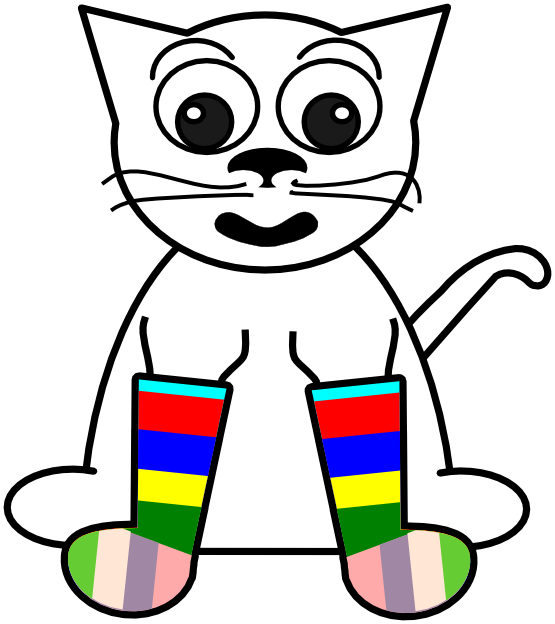 Cartoon Black And White Rainbow - ClipArt Best