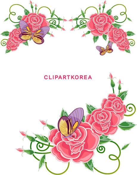 Цветы как оформление открытки