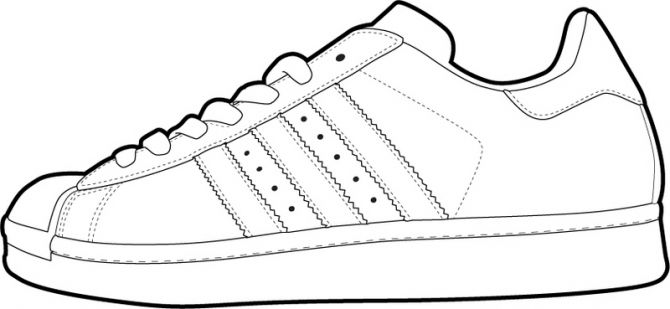Tennis Shoe Outline
