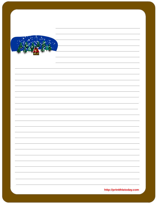 Free Winter Writing Paper | Print This Today