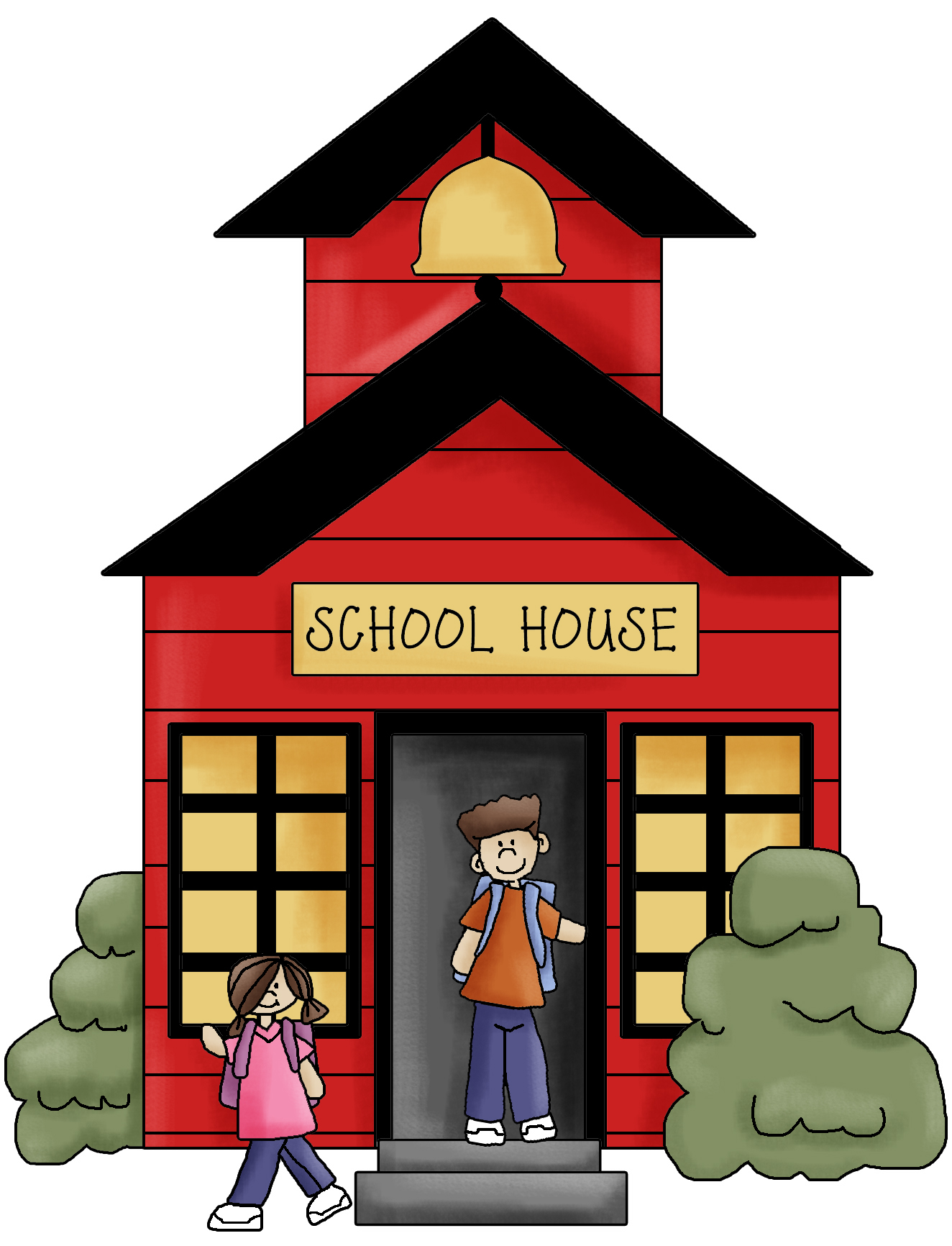 free clipart schoolhouse - photo #20
