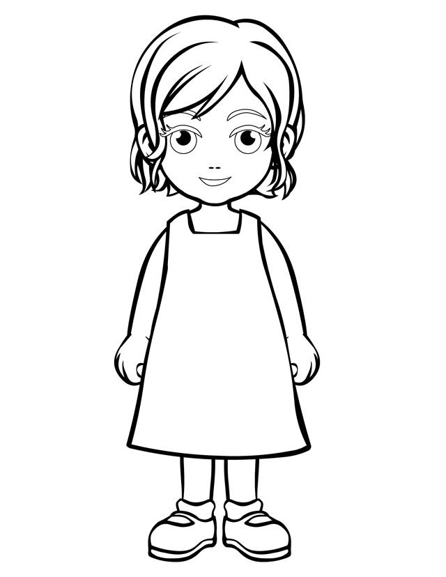 Person Outline Coloring Page - ClipArt Best