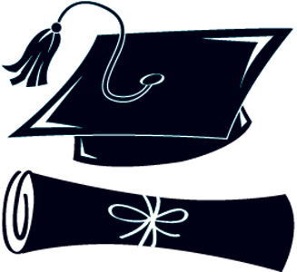 Black And White Graduation Hat - ClipArt Best