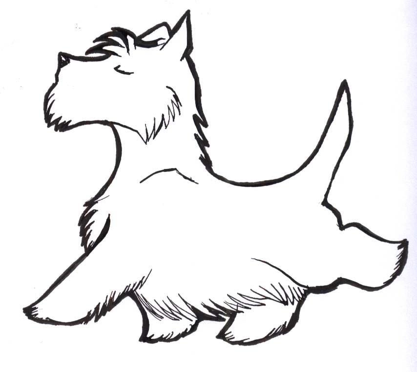 Scottie dog clipart clipart best for Westie coloring pages