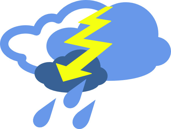 thunderstorm weather symbol clipart best