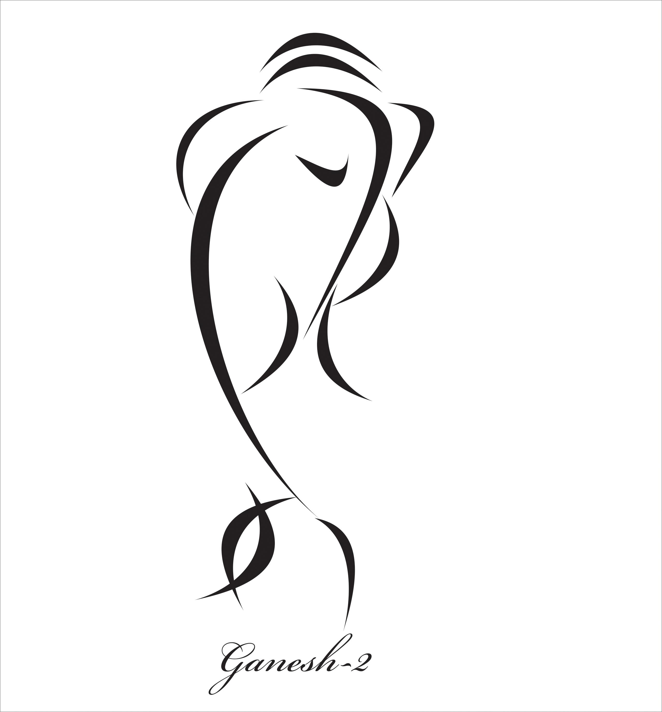 Line Art Of Lord Ganesha : Lord ganesha sketching pics clipart best