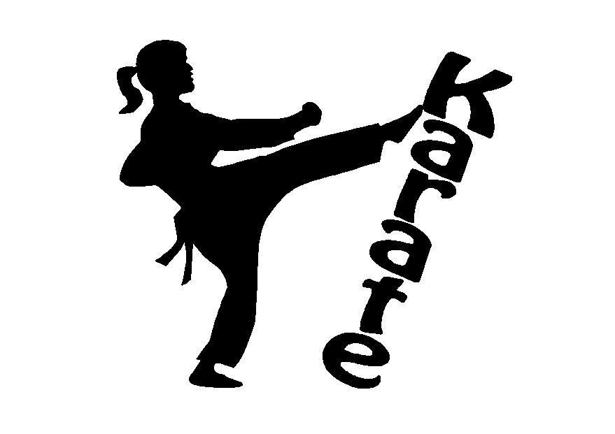 Karate girl decal 2, sport decals, spirit decals, sport spirit