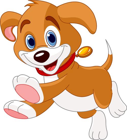 Cute cartoon dog vector set vector animal free download