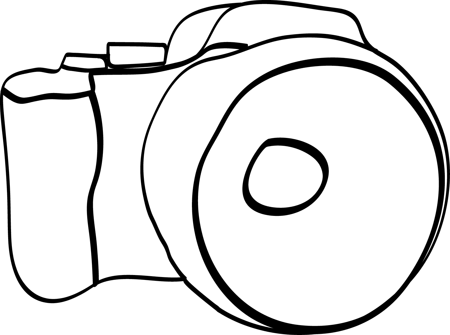 Line Drawing Camera : Camera line art clipart best