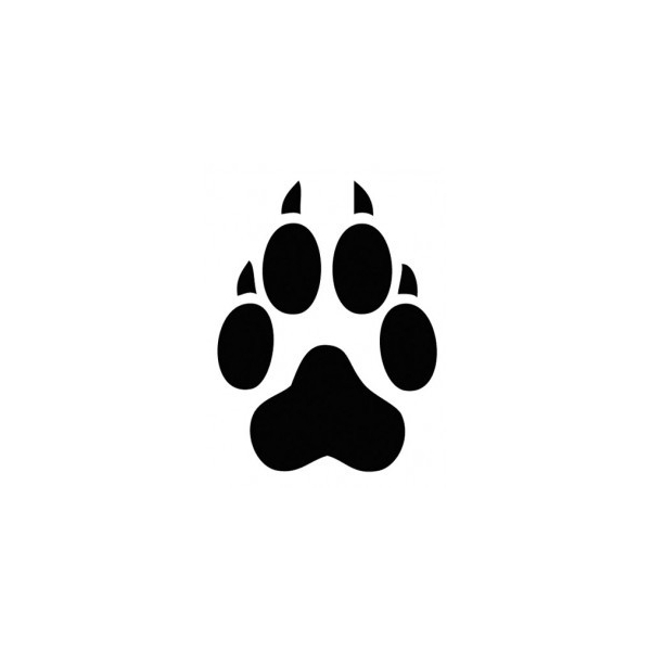 tiger tracks clip art - photo #10