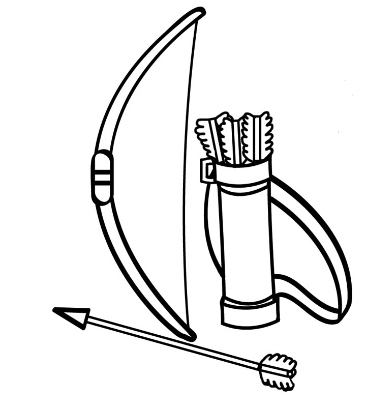 coloring pages archery pictures - photo#33