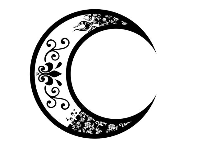 crescent moon tattoo clipart best. Black Bedroom Furniture Sets. Home Design Ideas