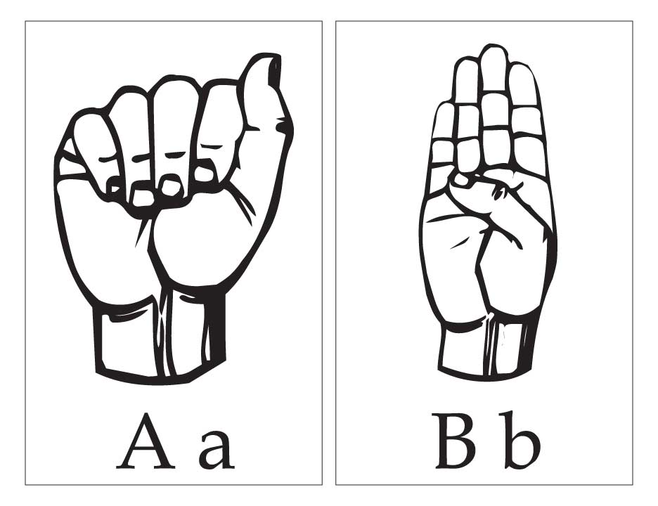 asl with capital and small letter aa bb download free