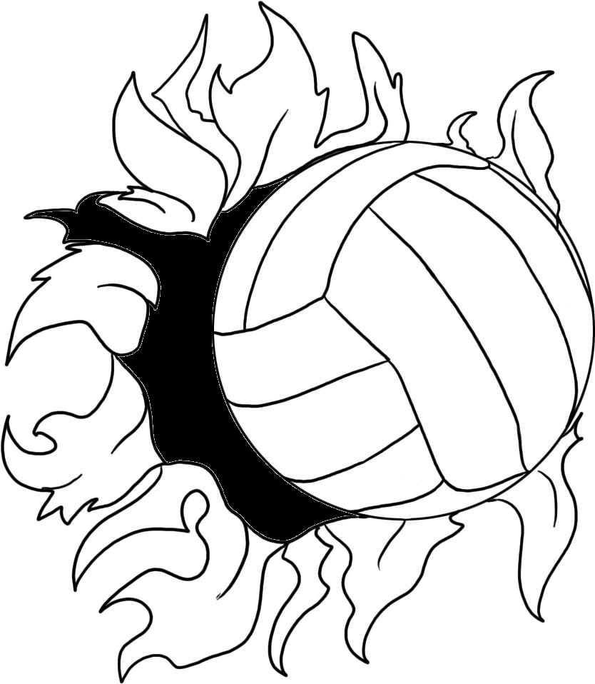 Cool volleyball designs to draw