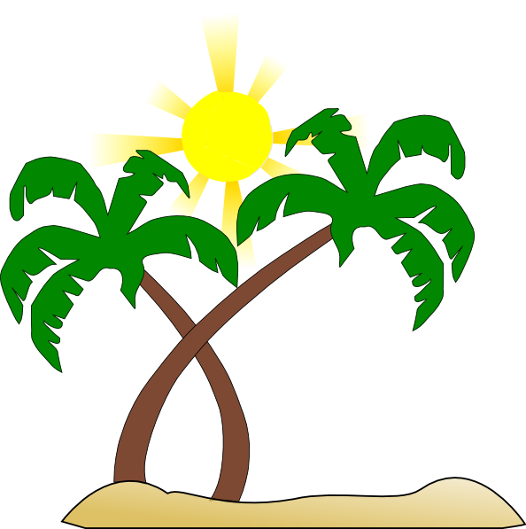 Double Palm Beach clip art - vector clip art online, royalty free ...