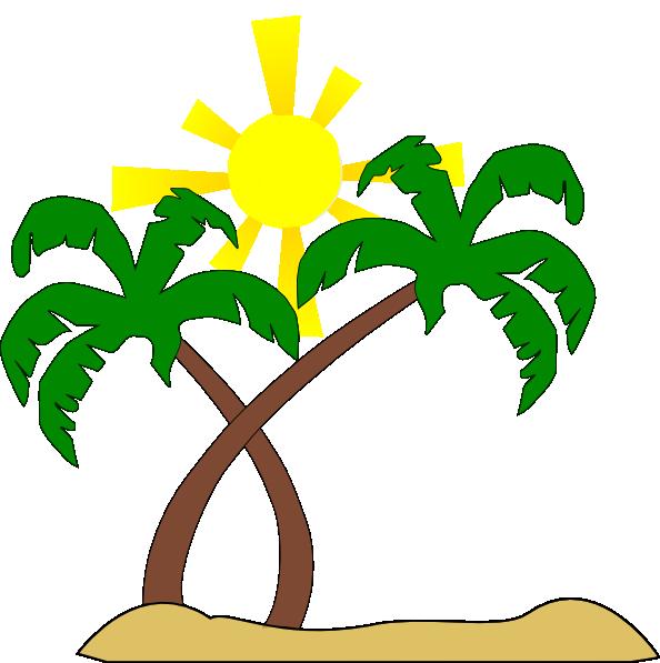Double Palm Beach clip art - vector clip art online, royalty free ...