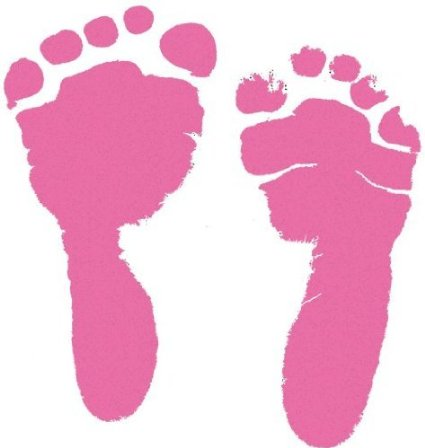 Pink Baby Footprints - ClipArt Best