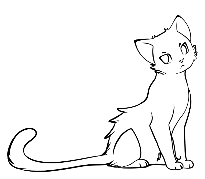 Line Art Cat : Simple cat drawing clipart best