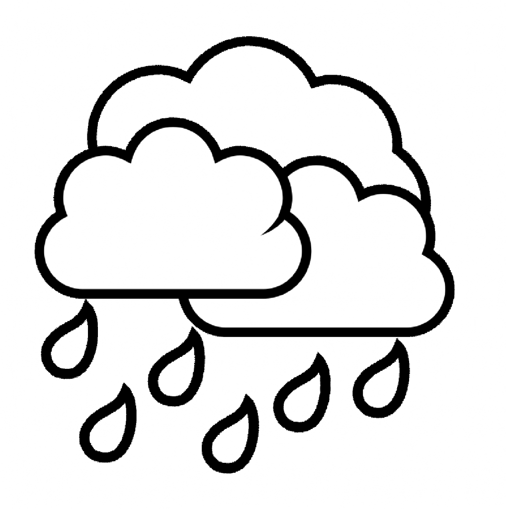 raindrop coloring pages clouds - photo#26