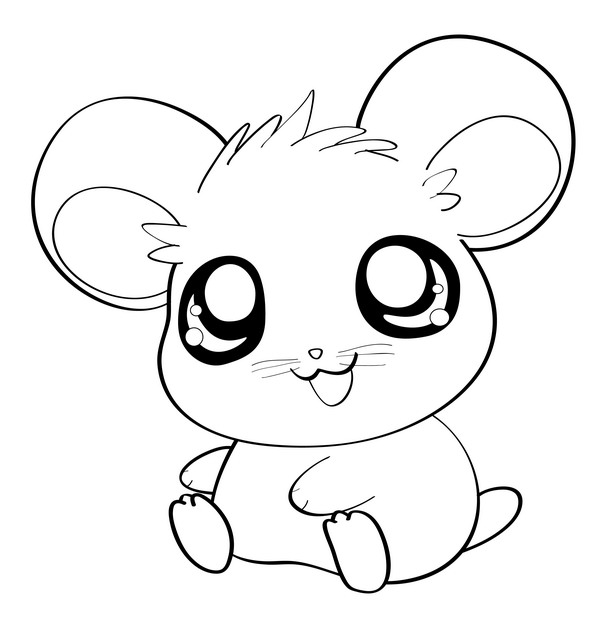 simple cartoon mice coloring pages - photo#30