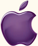 purple apple logo 4k - photo #30