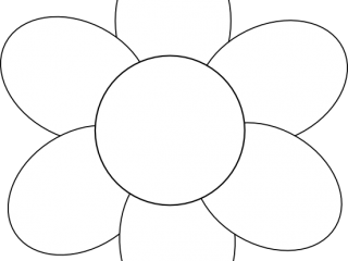 L flower template clipart best for Blank flower coloring pages