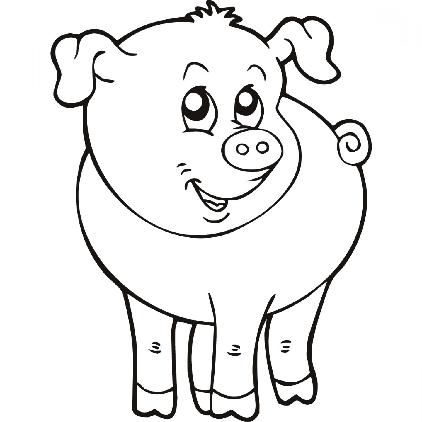 Black And White Line Drawings Of Animals : Hd animal line art design clipart best