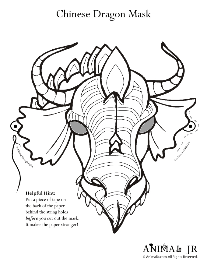 chinese new year dragon head coloring pages coolagenet - Chinese Dragon Head Coloring Pages