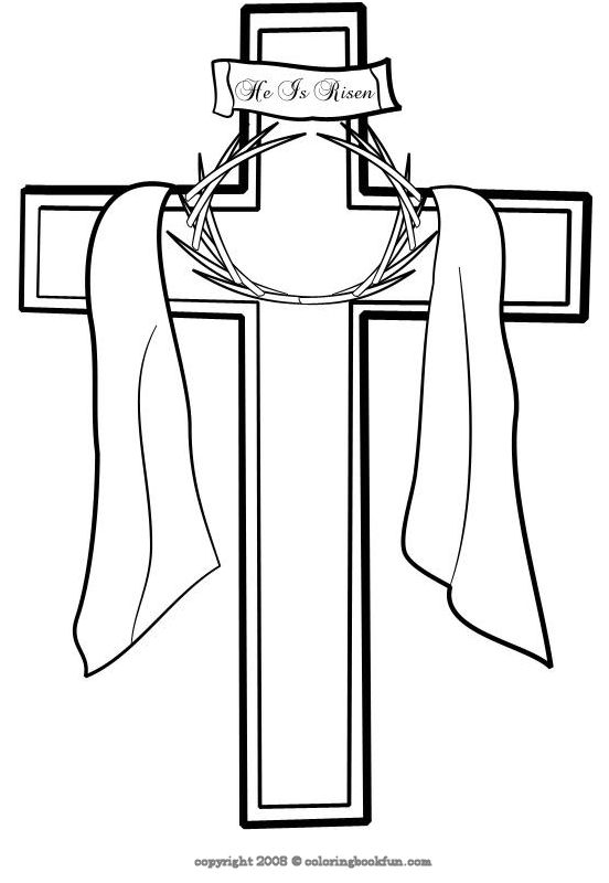 Cross with flowers coloring page clipart best for Coloring pages of crosses with flowers