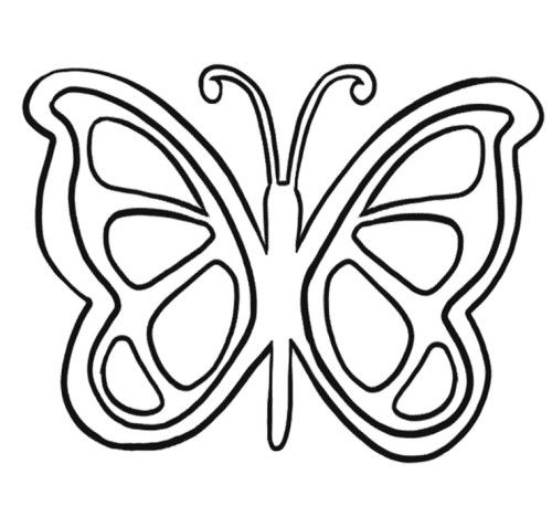 Butterfly Line Drawing Easy : Simple butterfly coloring pages kids