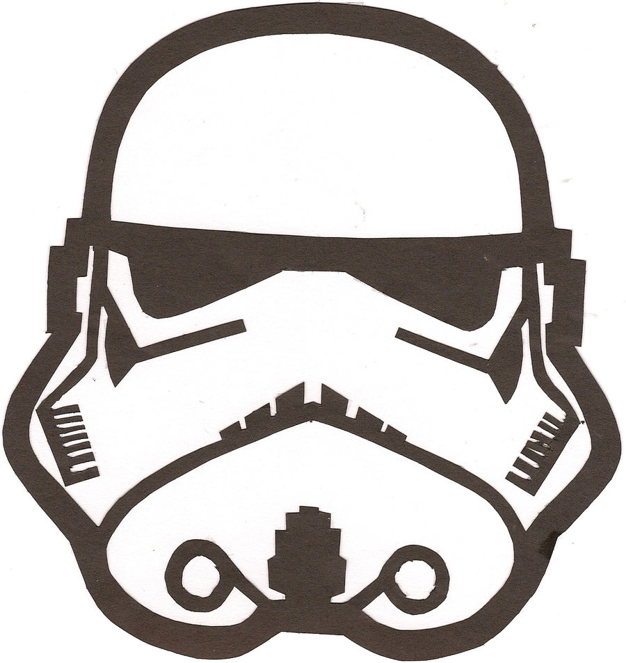 Transformative image within stormtrooper mask printable
