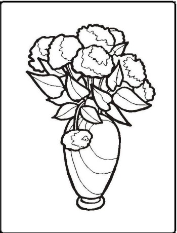 Flower With Stems For Kids ClipArt