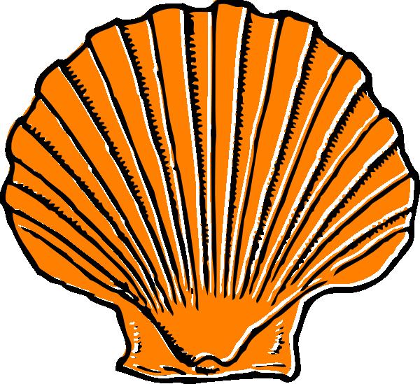 Orange Seashell Clip Art - vector clip art online ...