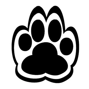 DOG PAW PRINT CAR DECAL STICKER 2 - Pitty Decals