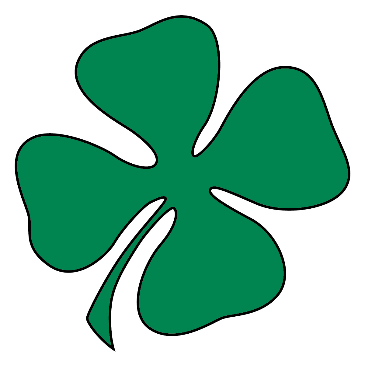 4 clovers and leprechaun clipart