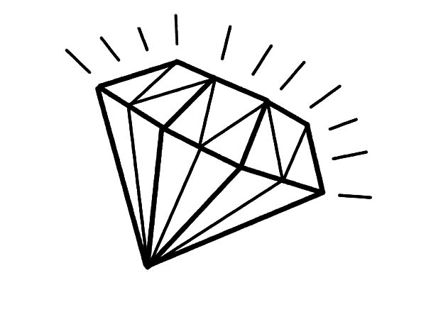 Diamond Ring Coloring Pages - ClipArt Best