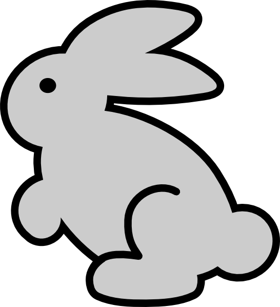 Outline Drawing Of A Rabbit - ClipArt Best