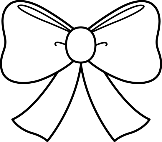 Bow Outline - ClipArt Best