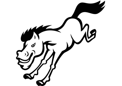how to draw a realistic horse jumping