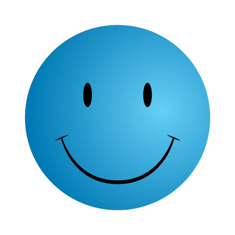 Blue Happy Face - ClipArt Best