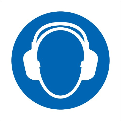 Ear Protectors (Symbols) Signs - PPE Signs - Mandatory Signs ...
