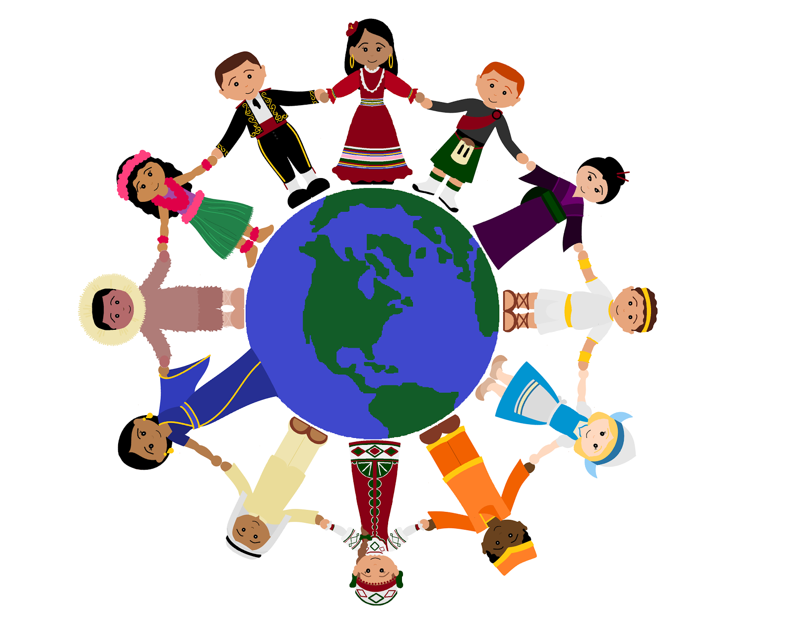 People Holding Hands Around The World ClipArt Best